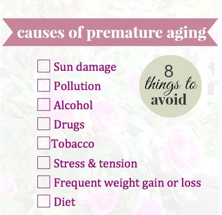 8 causes of premature aging2